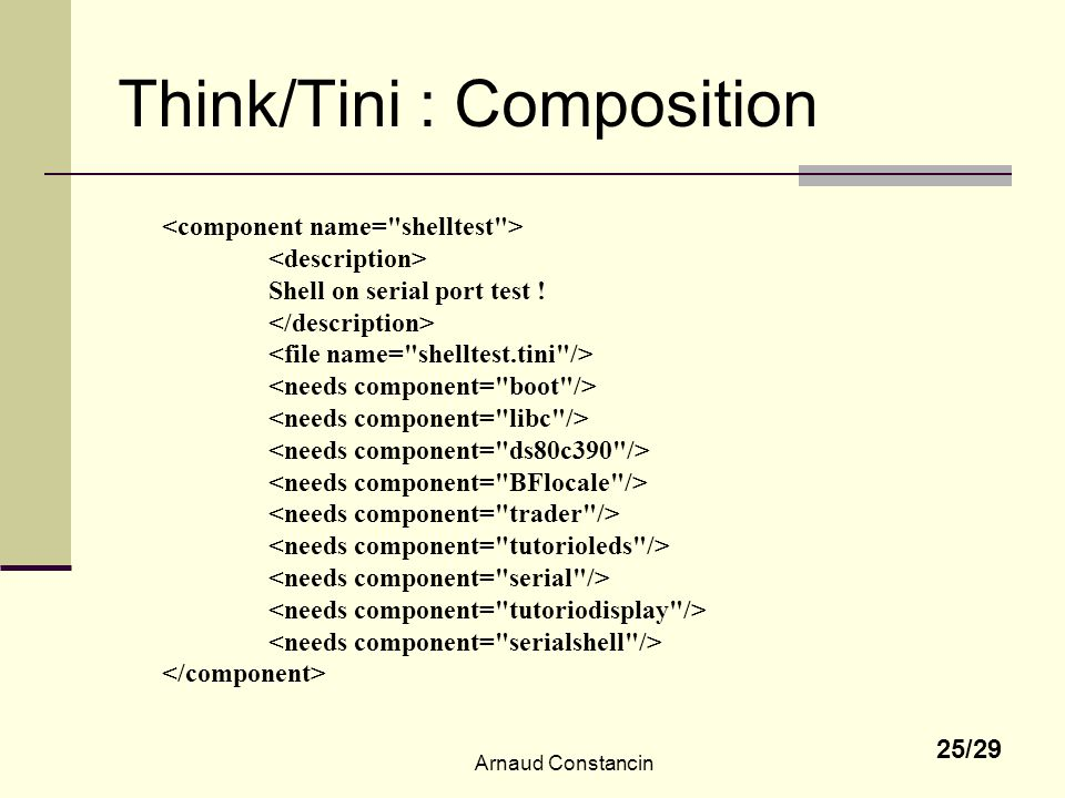 Think/Tini : Composition