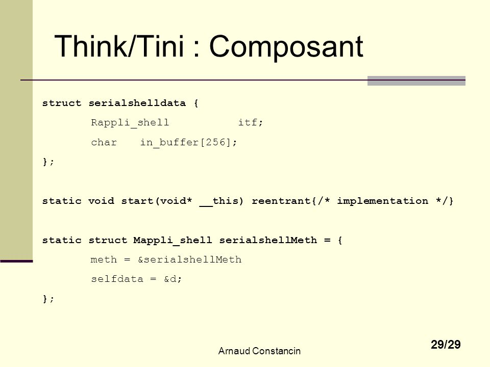 Think/Tini : Composant