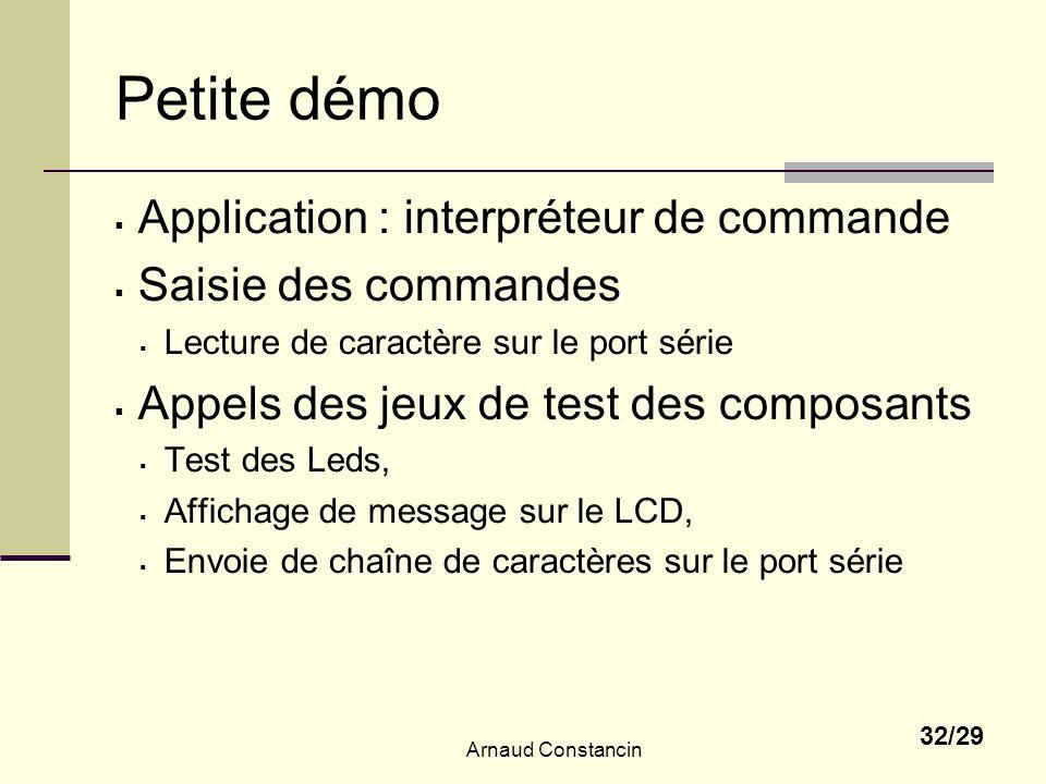 Petite démo Application : interpréteur de commande