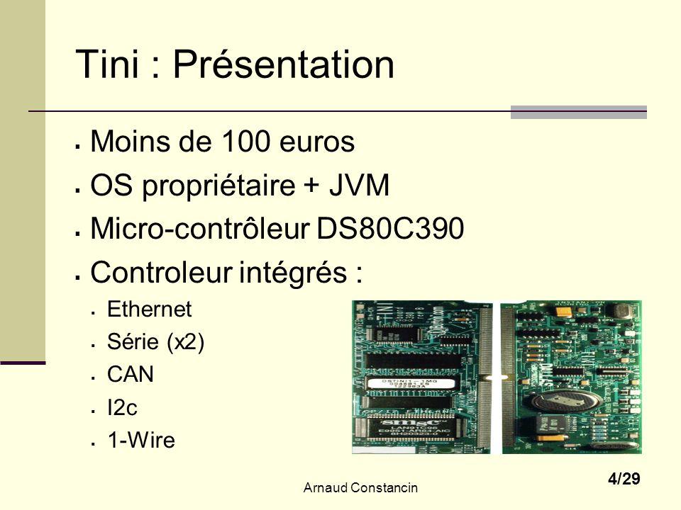 Tini : Présentation Moins de 100 euros OS propriétaire + JVM