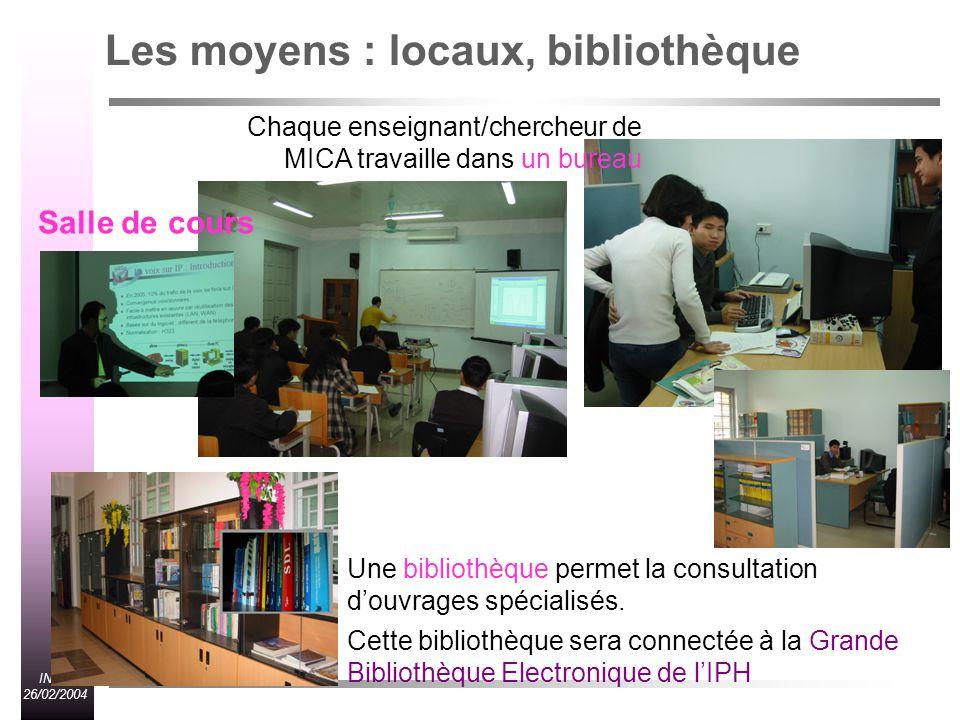 Les moyens : locaux, bibliothèque