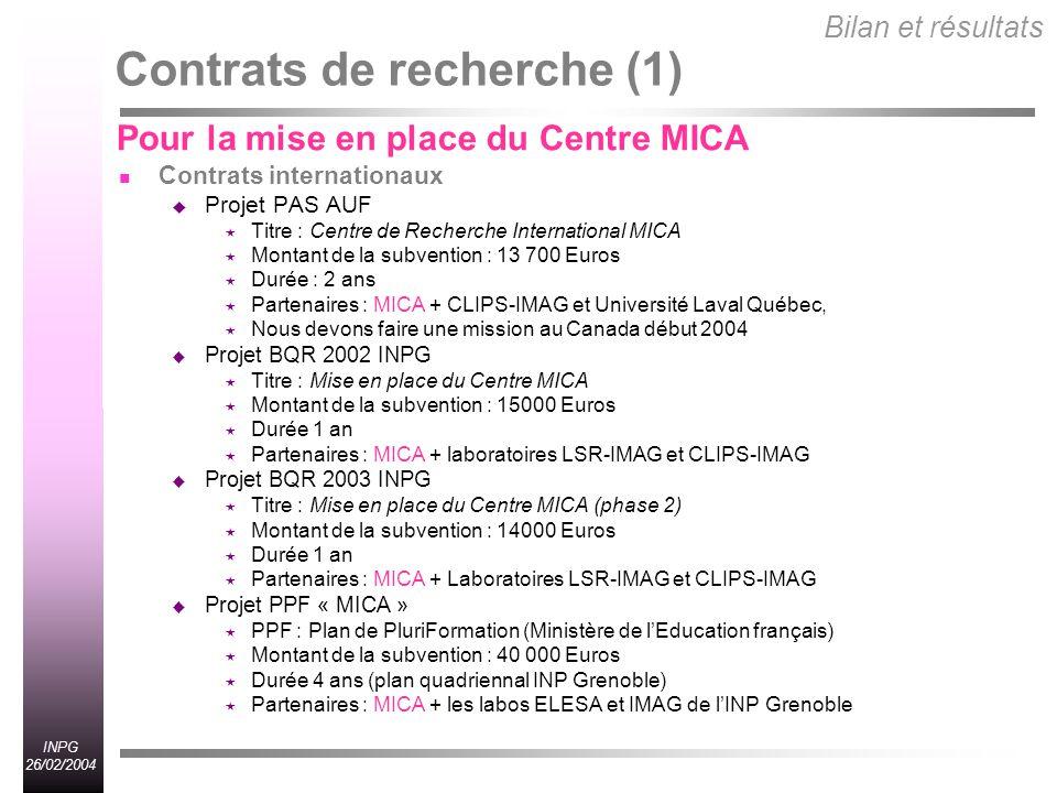 Contrats de recherche (1)