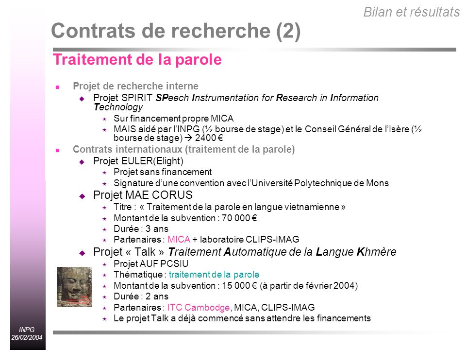 Contrats de recherche (2)
