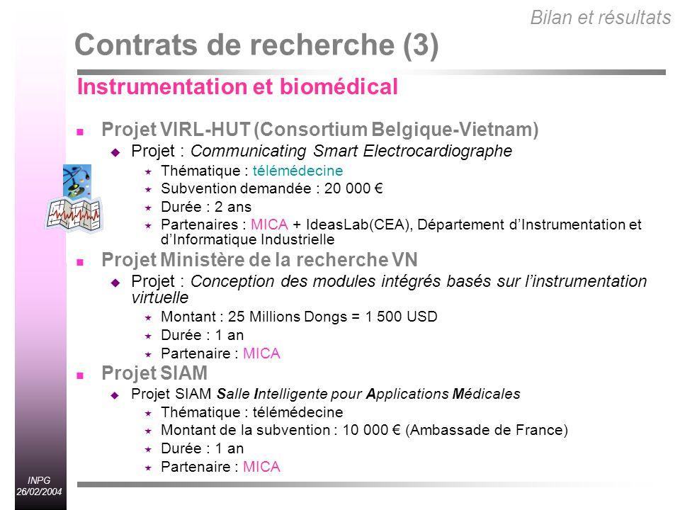 Contrats de recherche (3)