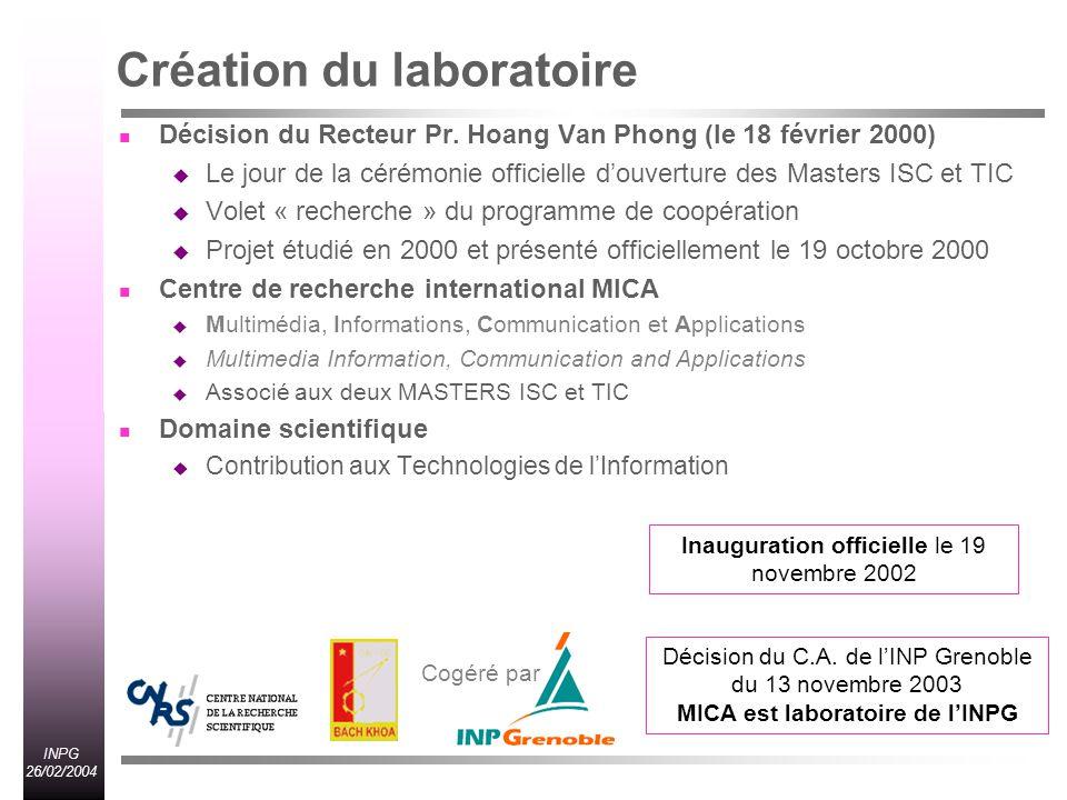 Création du laboratoire