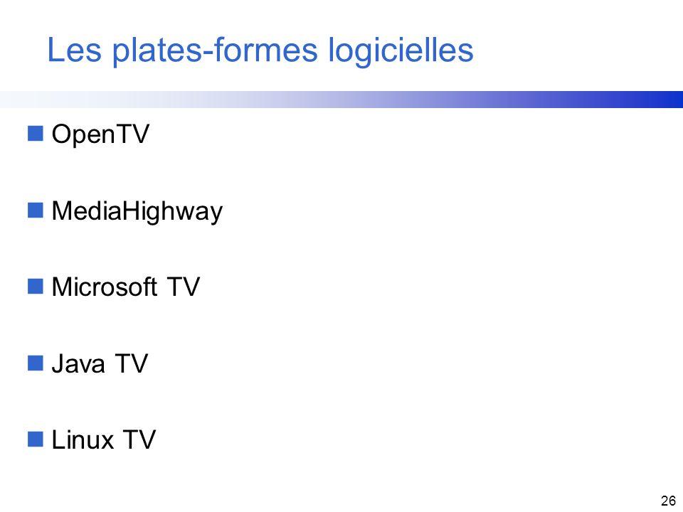 Les plates-formes logicielles
