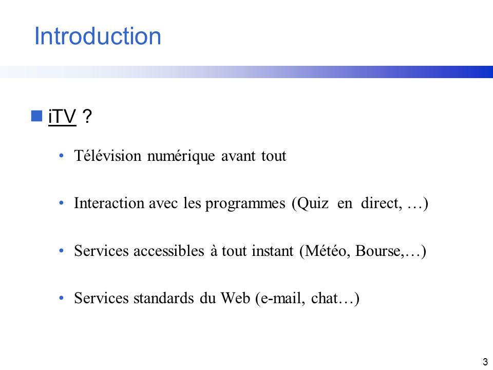 Introduction iTV Télévision numérique avant tout