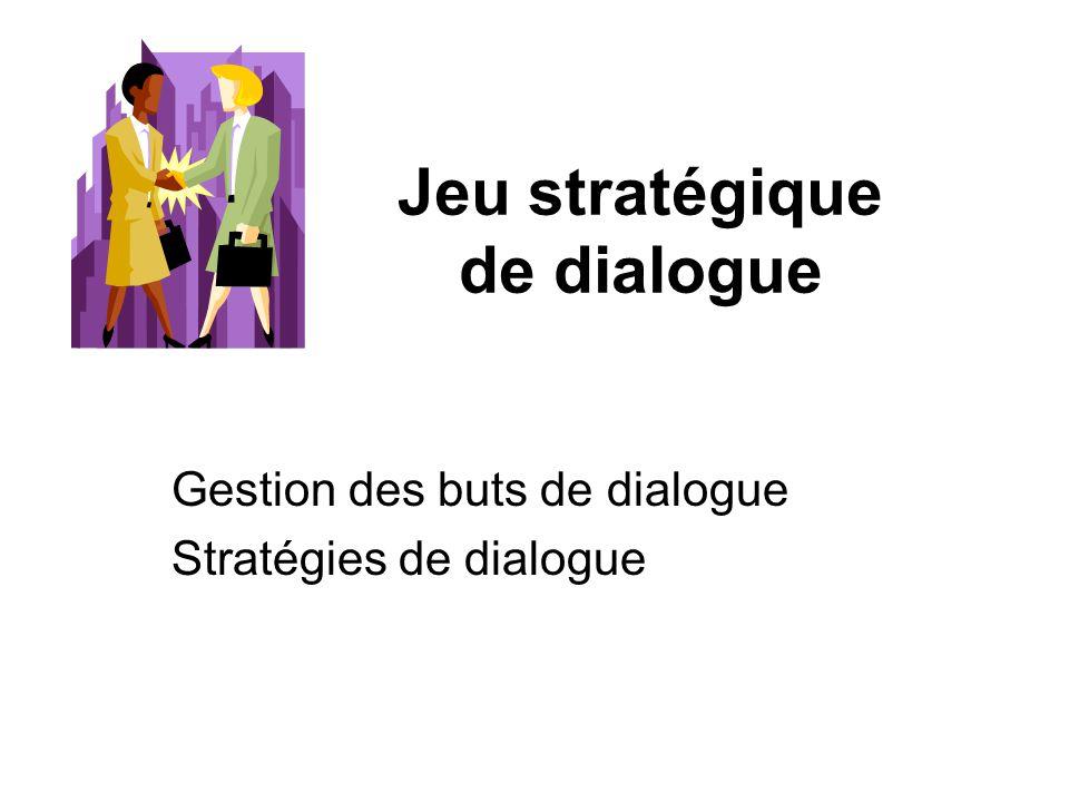 Jeu stratégique de dialogue