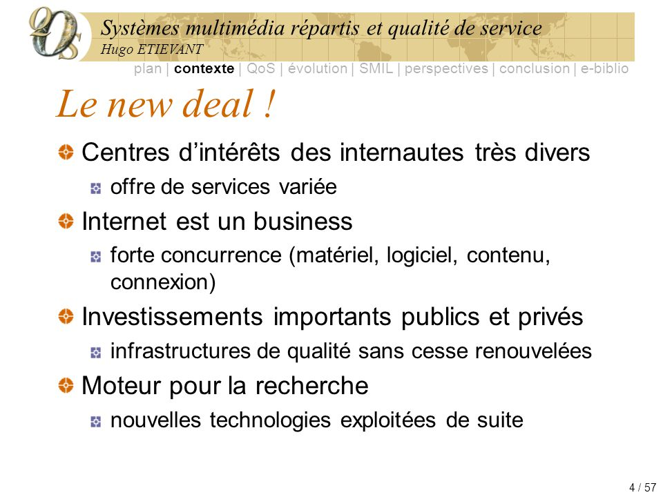 Le new deal ! Centres d'intérêts des internautes très divers