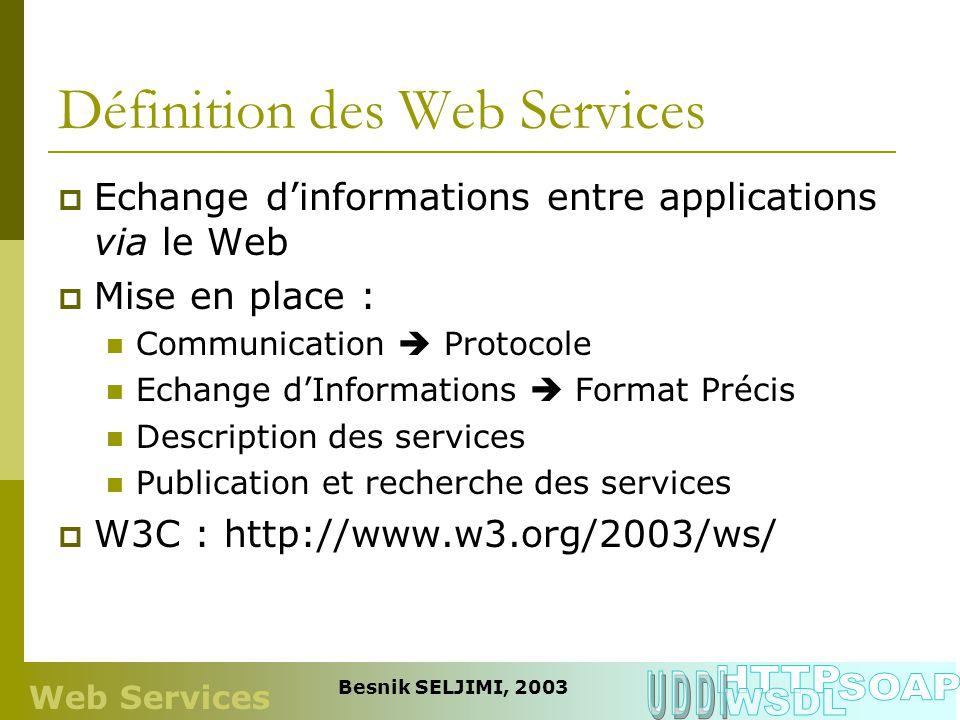 Définition des Web Services