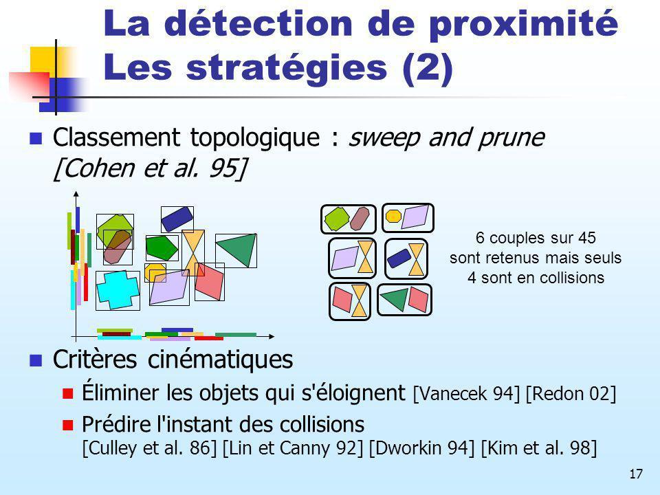 La détection de proximité Les stratégies (2)
