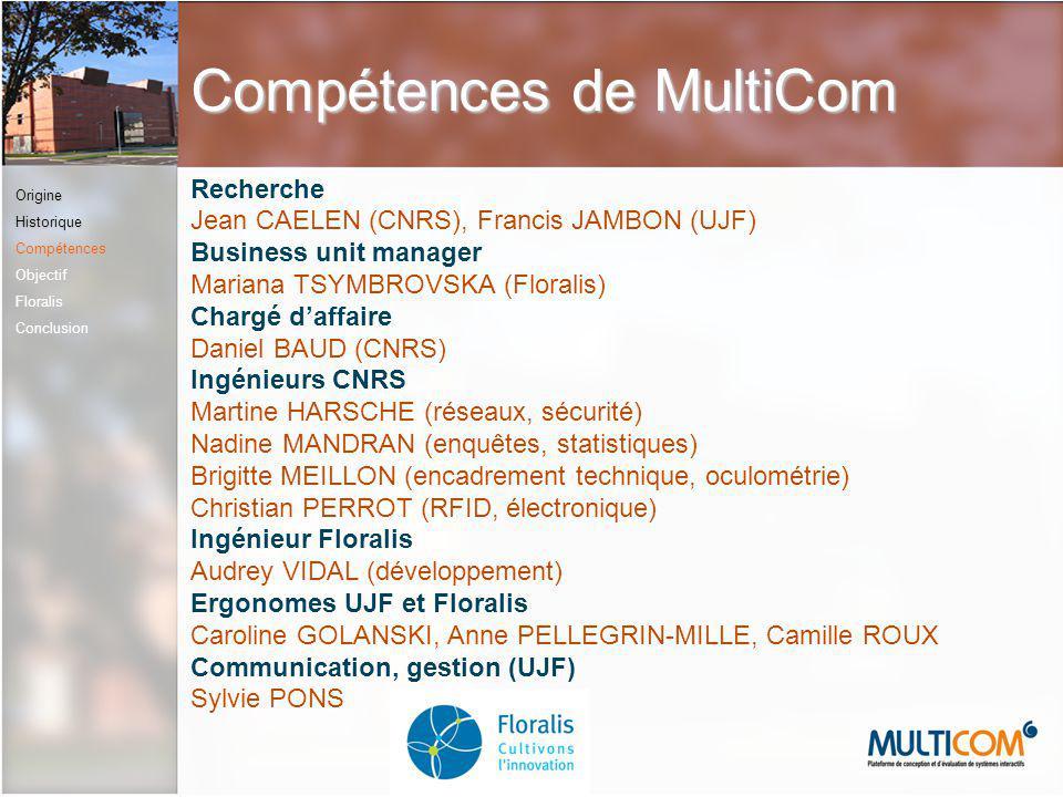 Compétences de MultiCom