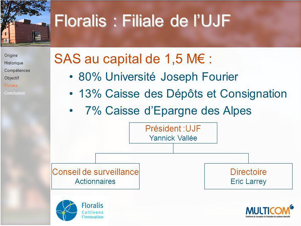 Floralis : Filiale de l'UJF