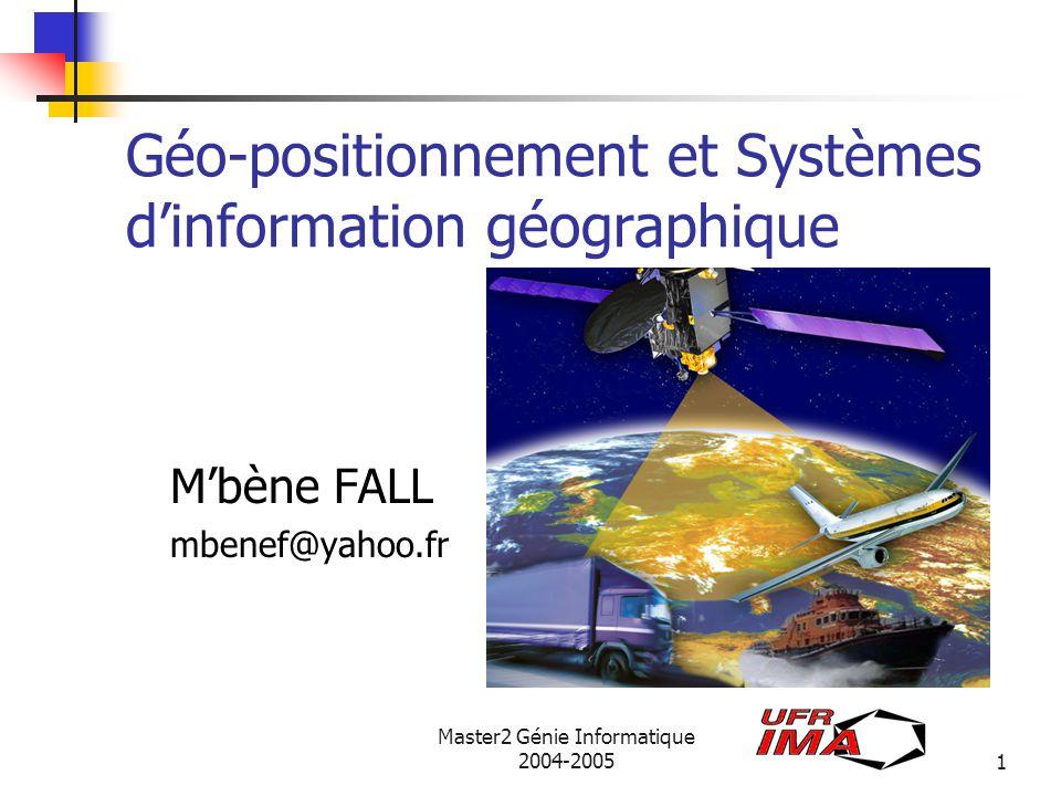 Géo-positionnement et Systèmes d'information géographique