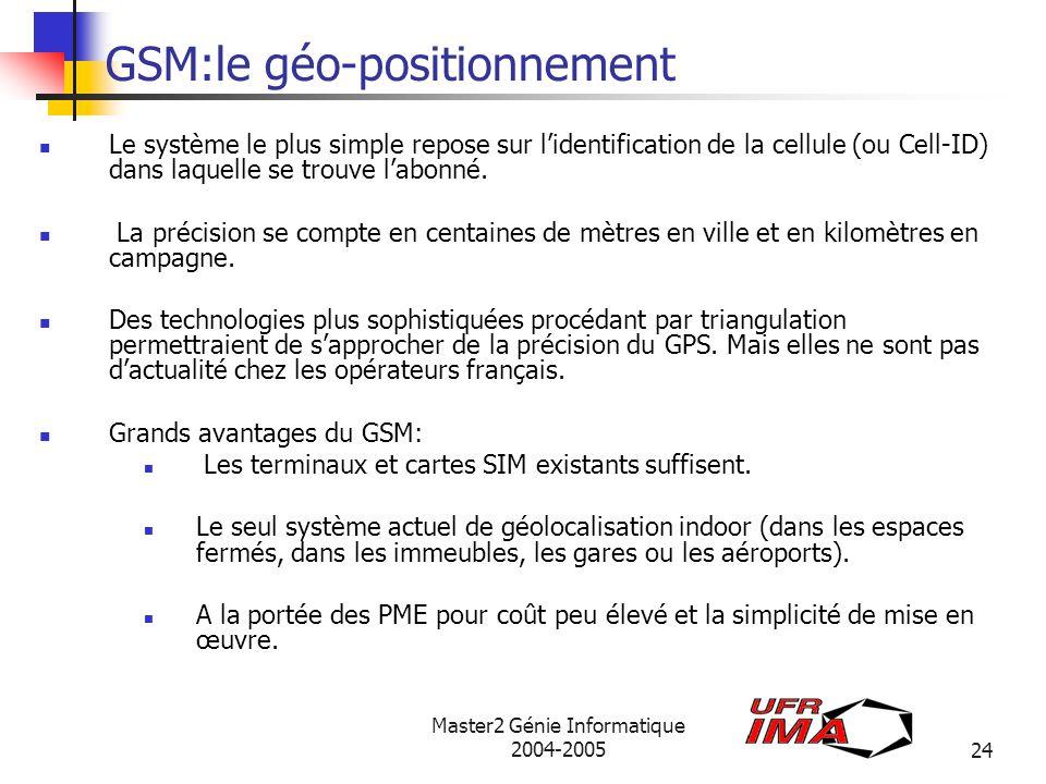 GSM:le géo-positionnement