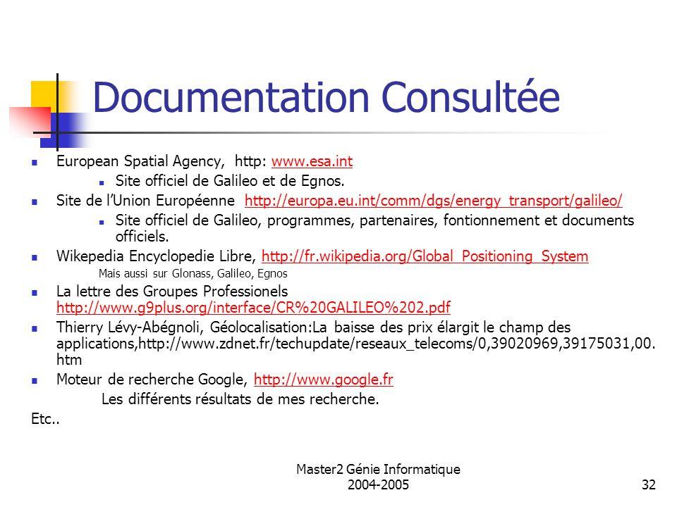 Documentation Consultée