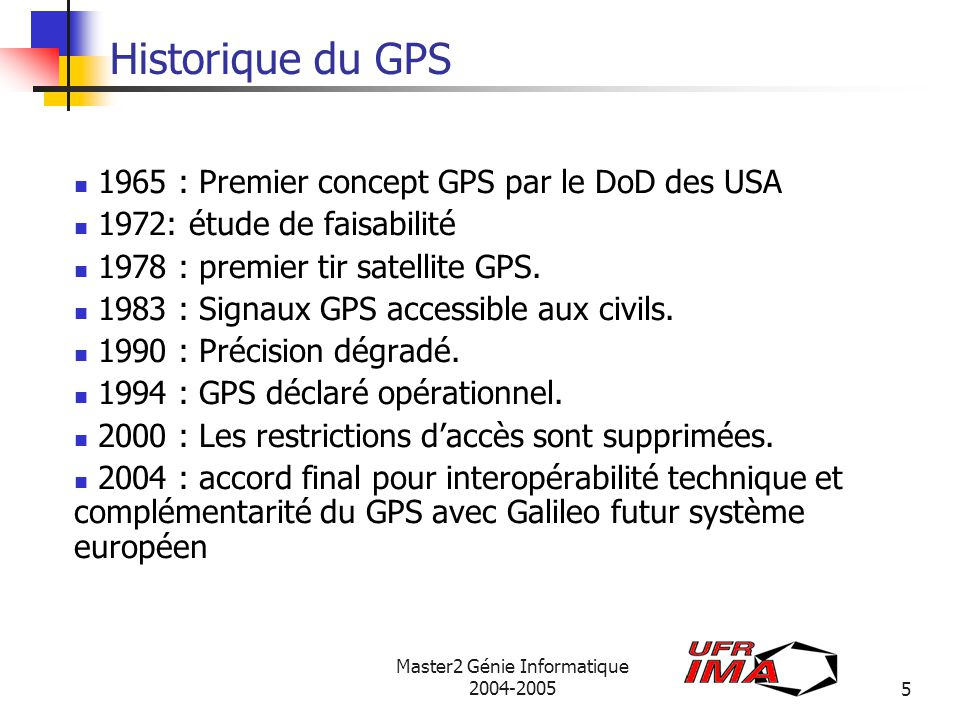 Master2 Génie Informatique 2004-2005