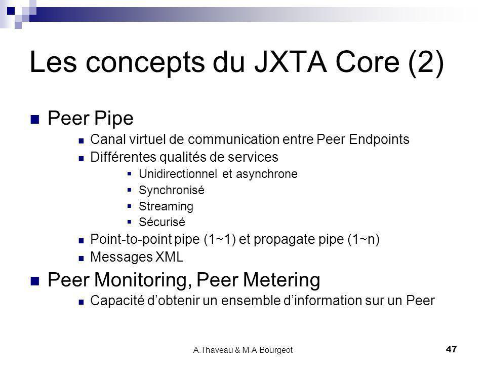Les concepts du JXTA Core (2)