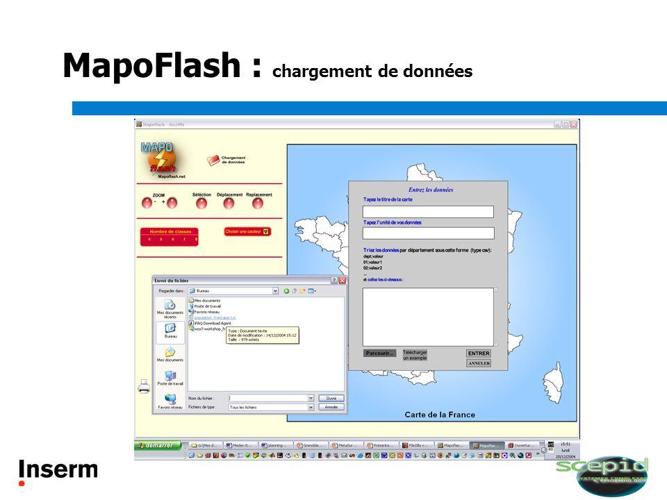MapoFlash : chargement de données