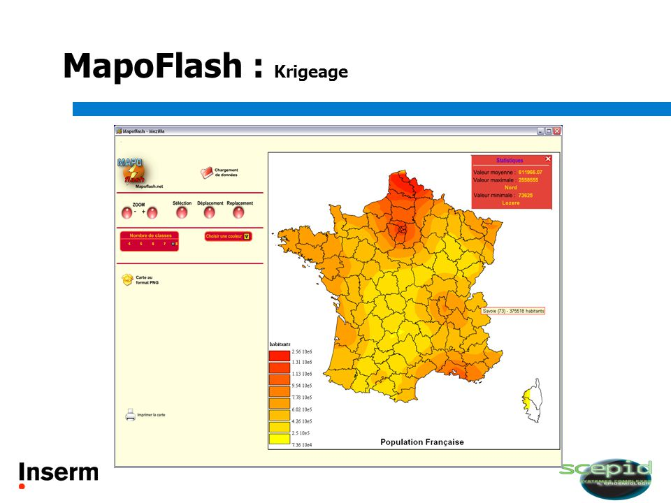 MapoFlash : Krigeage