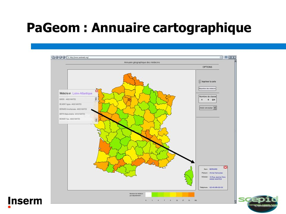 PaGeom : Annuaire cartographique
