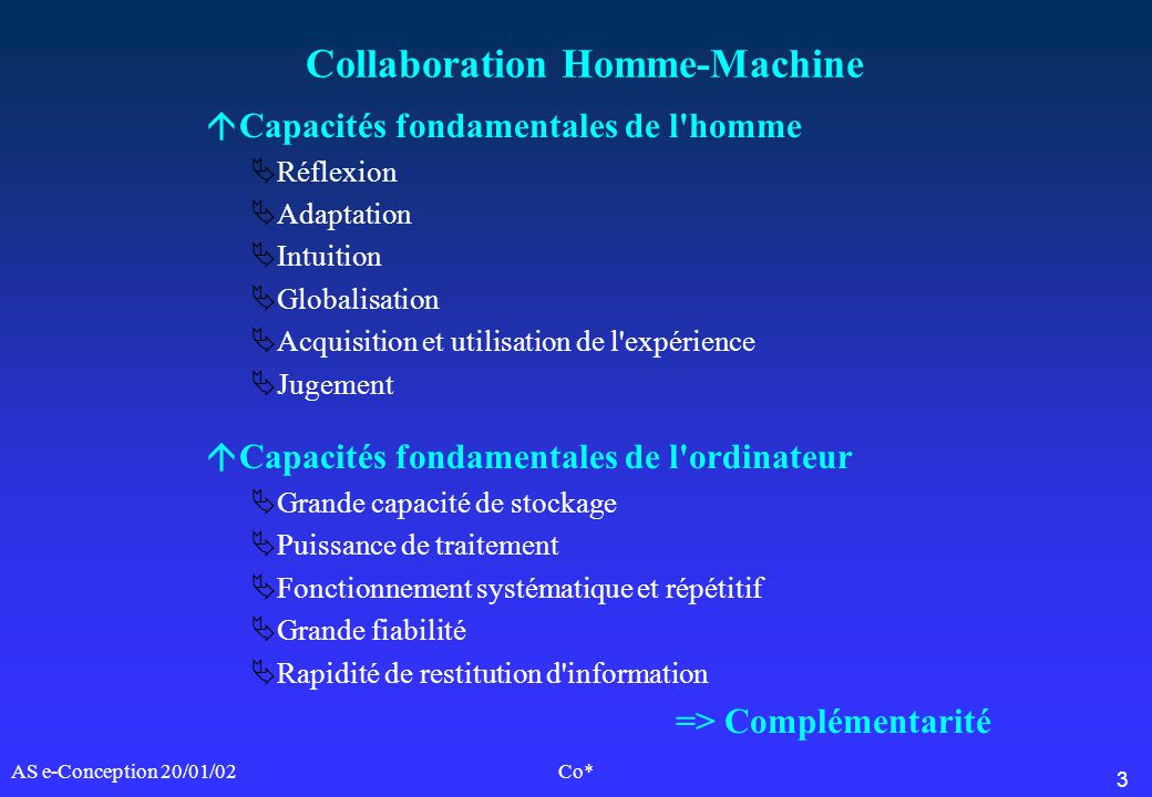 Collaboration Homme-Machine