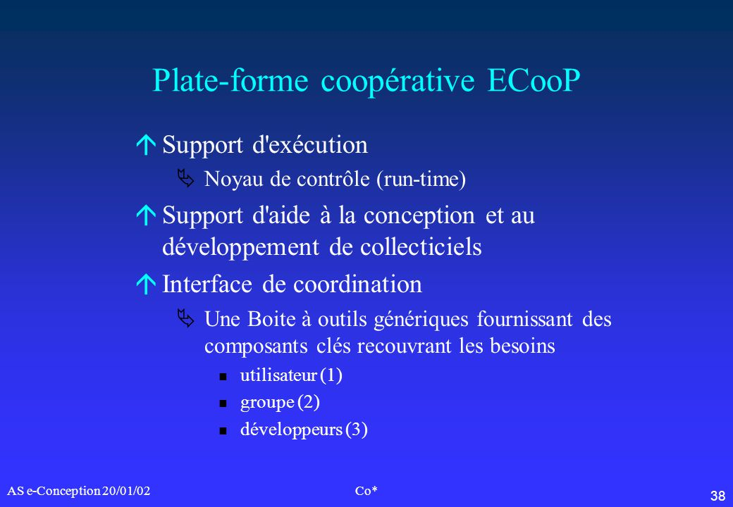 Plate-forme coopérative ECooP