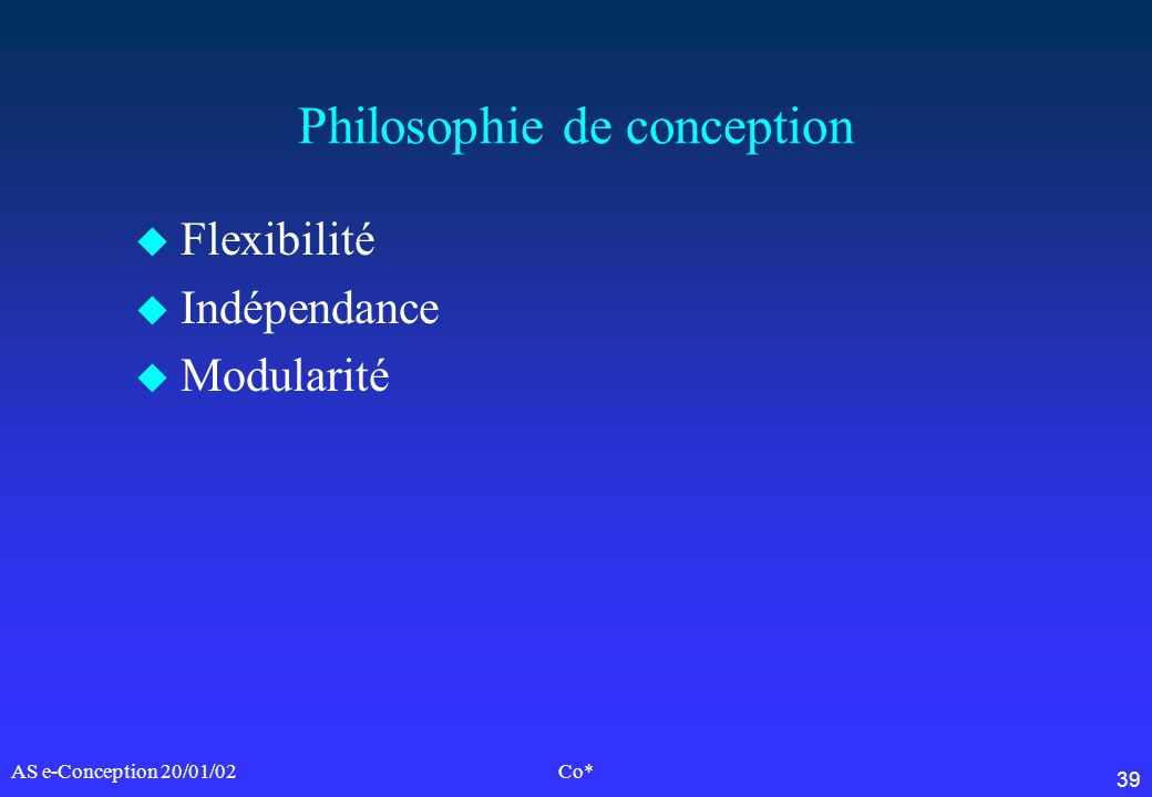 Philosophie de conception