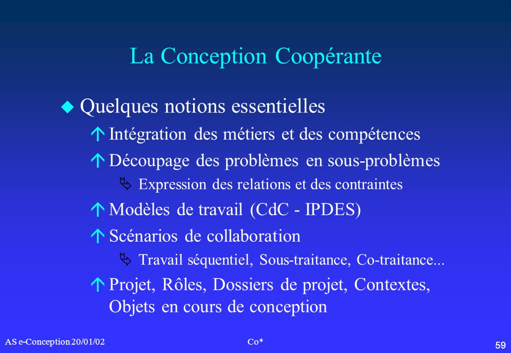 La Conception Coopérante