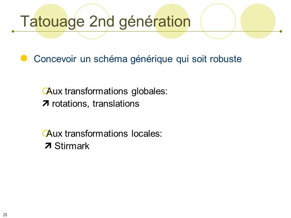 Tatouage 2nd génération