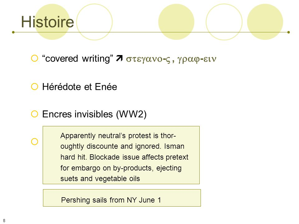 Histoire covered writing  - , - Hérédote et Enée