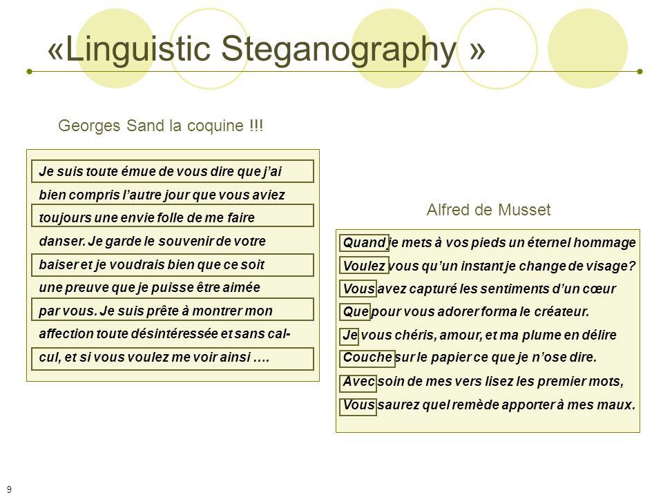 «Linguistic Steganography »