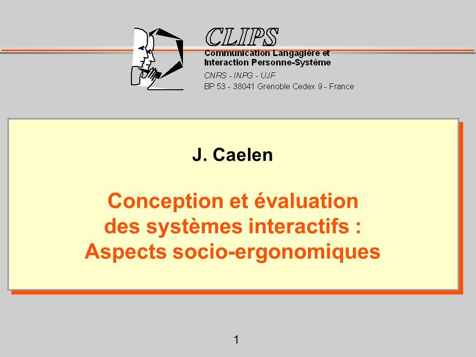 Conception et évaluation des systèmes interactifs :