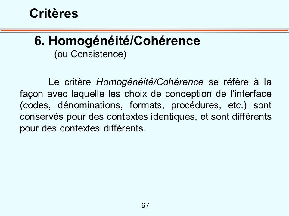 6. Homogénéité/Cohérence