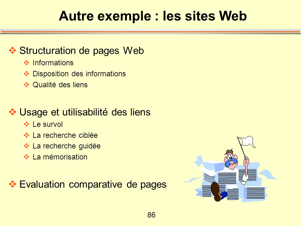 Autre exemple : les sites Web