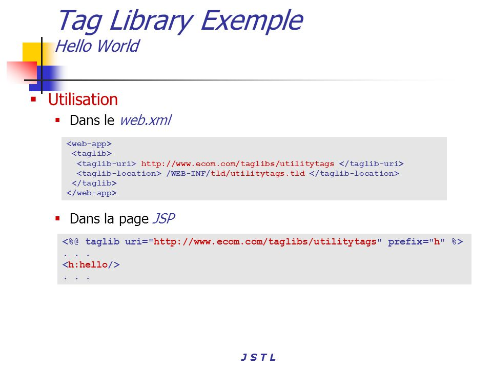 Tag Library Exemple Hello World