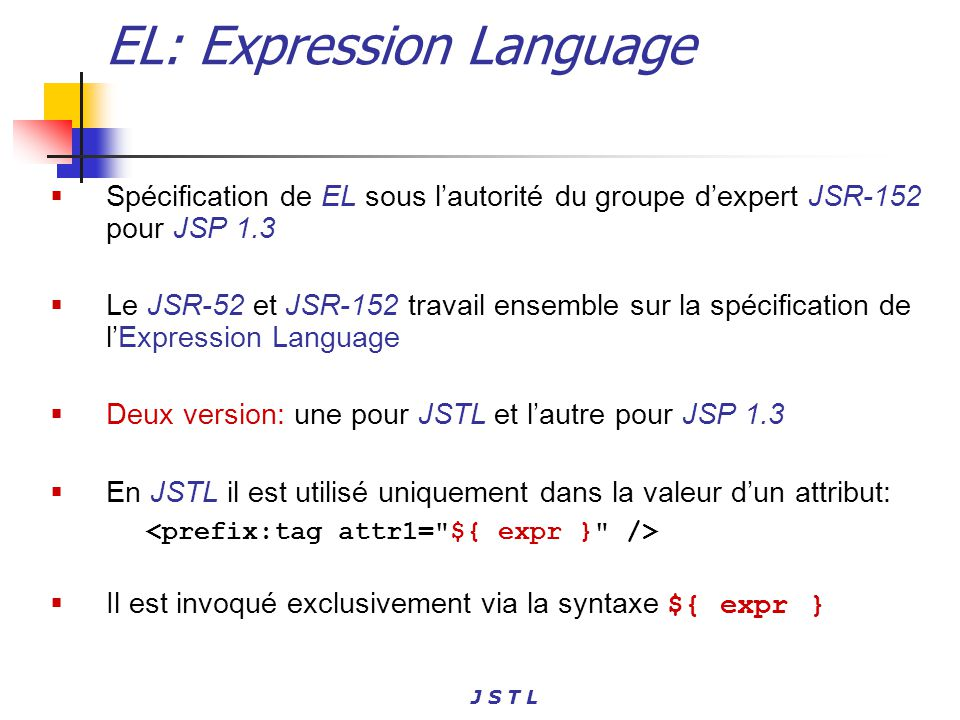 EL: Expression Language