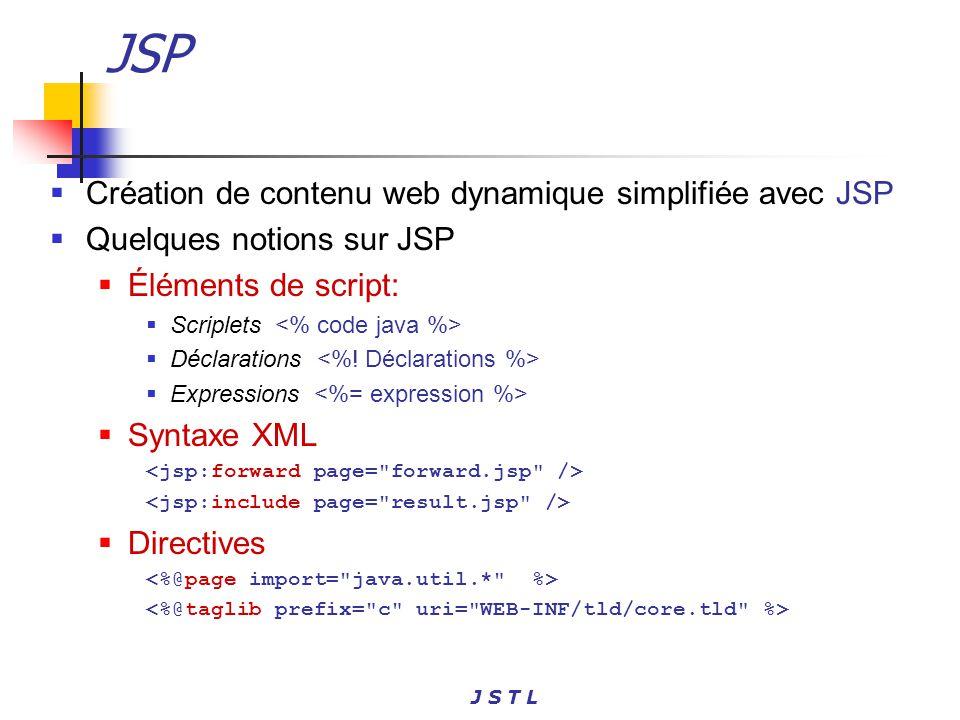 JSP Création de contenu web dynamique simplifiée avec JSP