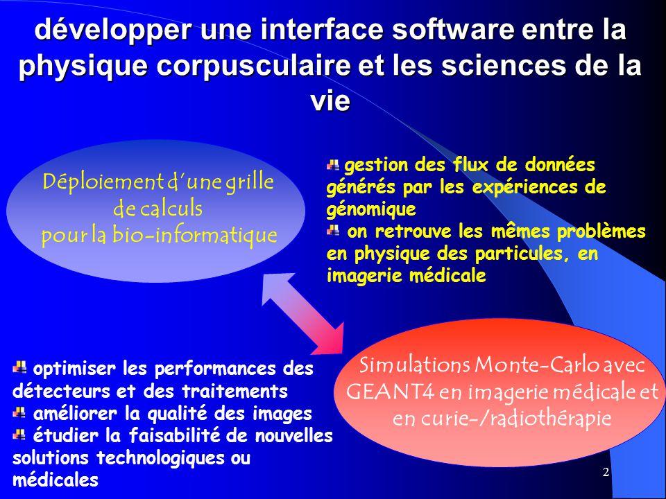 Déploiement d'une grille pour la bio-informatique