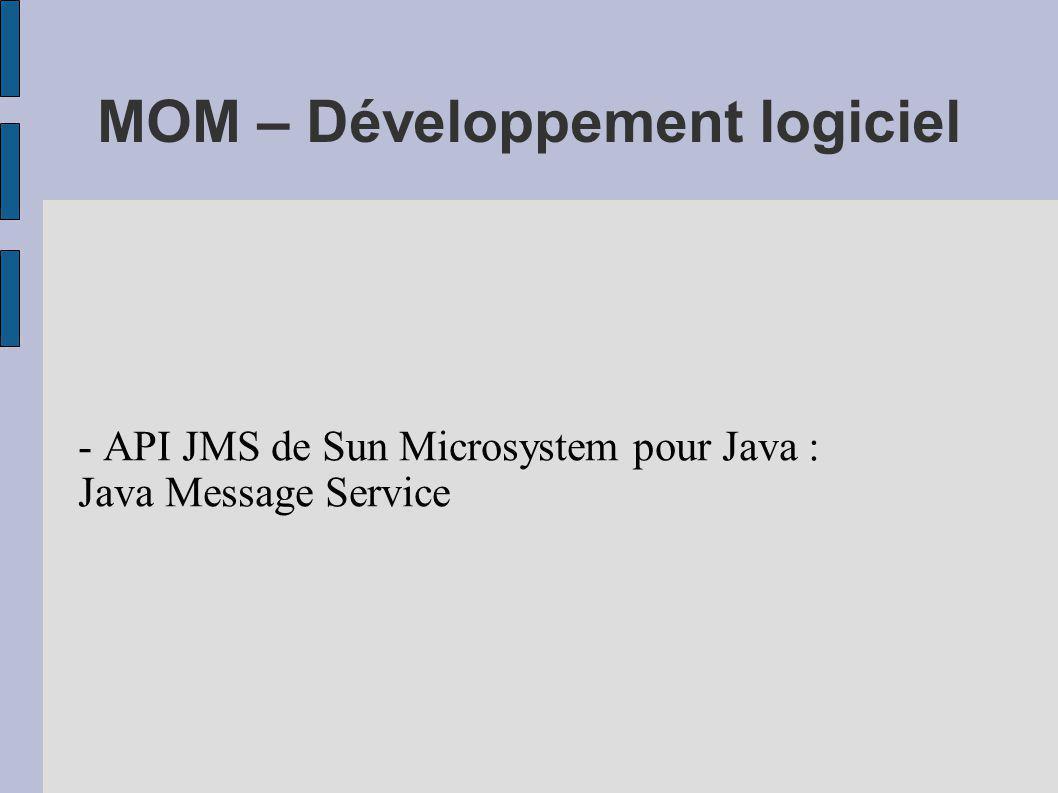 MOM – Développement logiciel