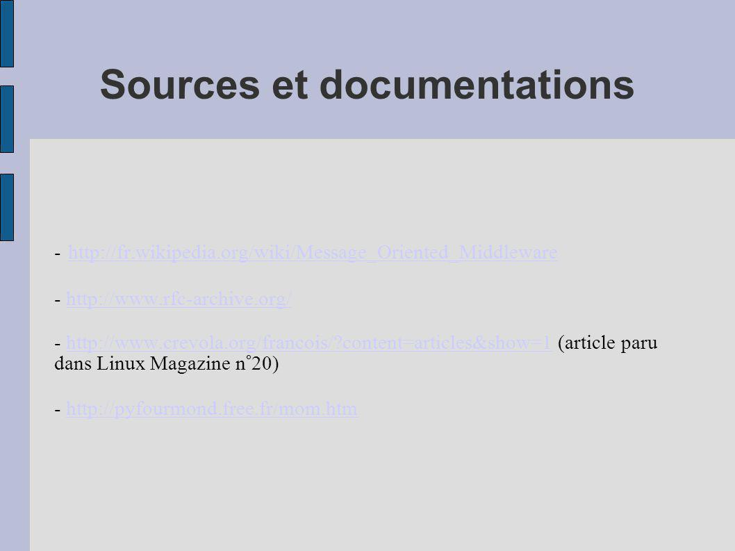 Sources et documentations