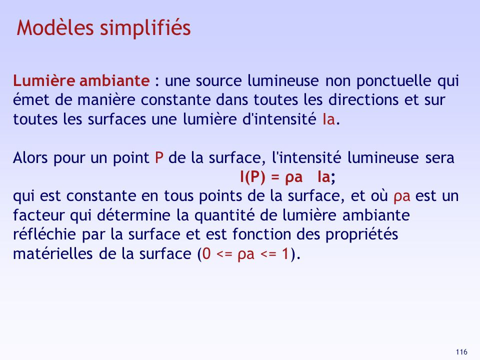 Modèles simplifiés