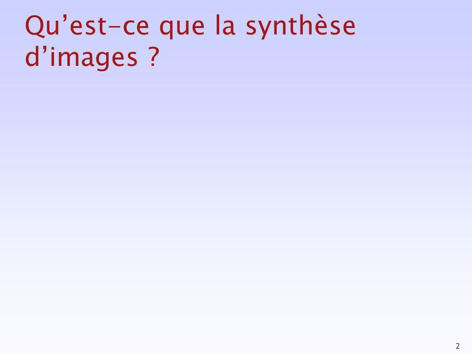 Qu'est-ce que la synthèse d'images
