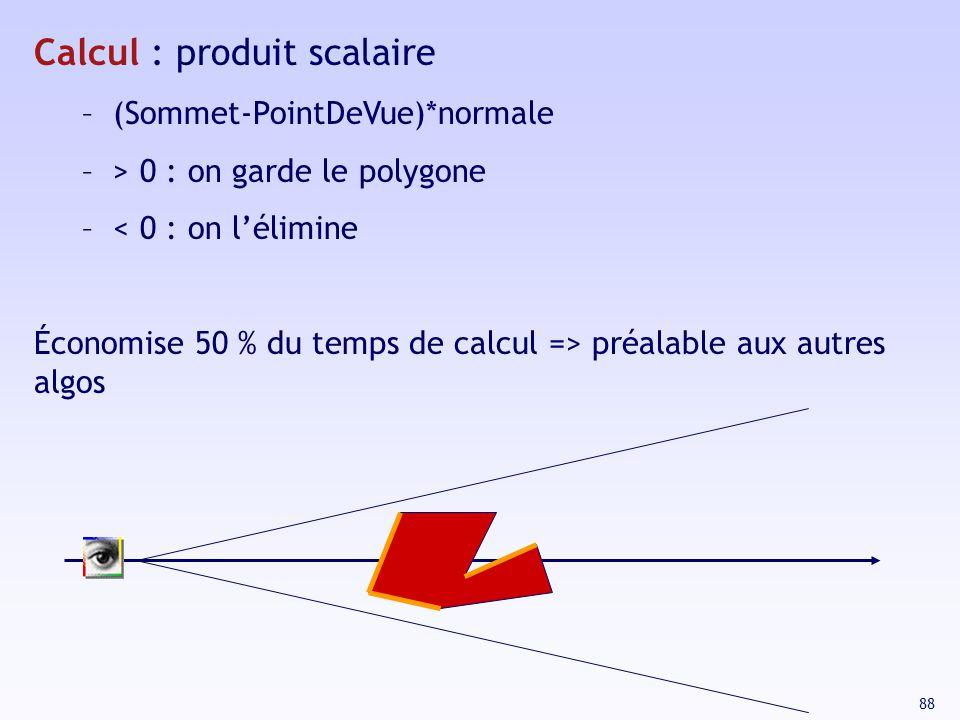 Calcul : produit scalaire
