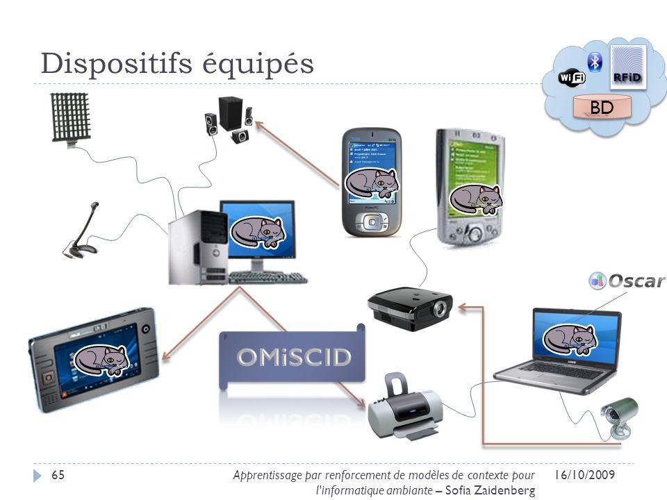 Dispositifs équipés OMiSCID BD