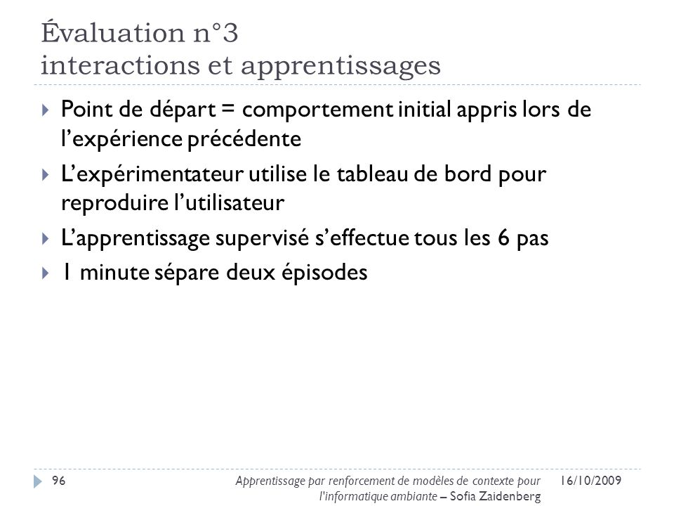 Évaluation n°3 interactions et apprentissages
