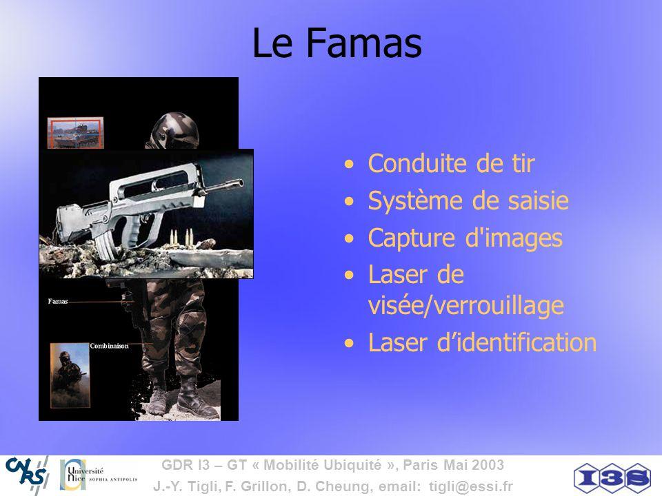 Le Famas Conduite de tir Système de saisie Capture d images