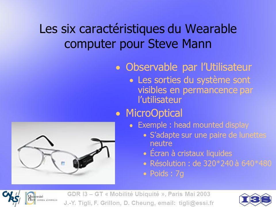 Les six caractéristiques du Wearable computer pour Steve Mann