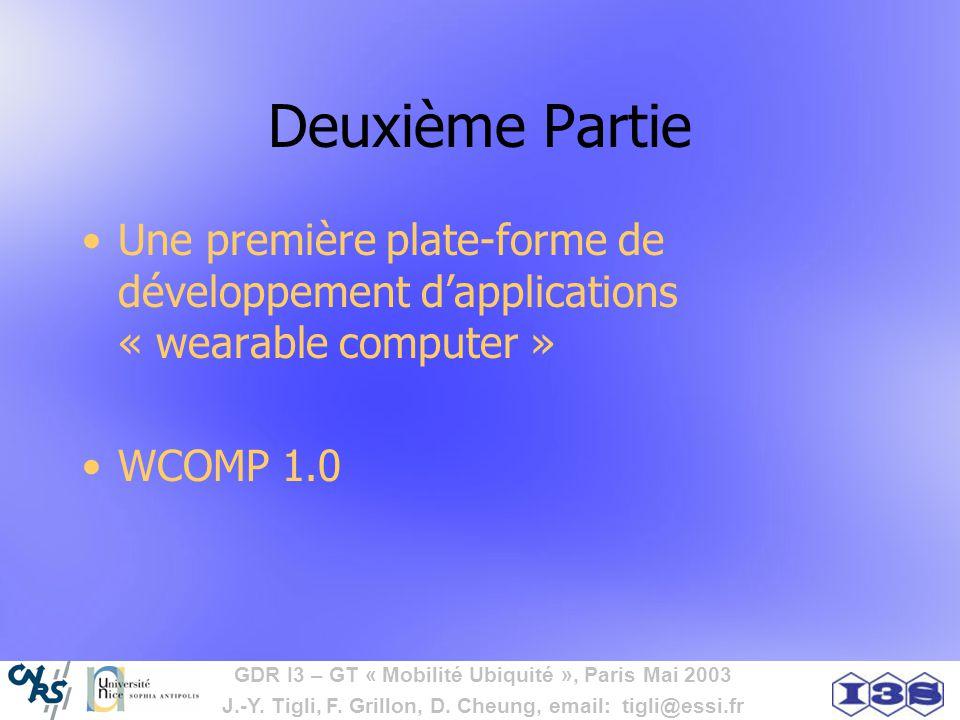 Deuxième Partie Une première plate-forme de développement d'applications « wearable computer » WCOMP 1.0.