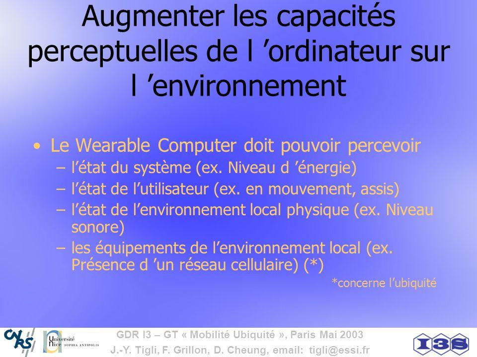 Augmenter les capacités perceptuelles de l 'ordinateur sur l 'environnement